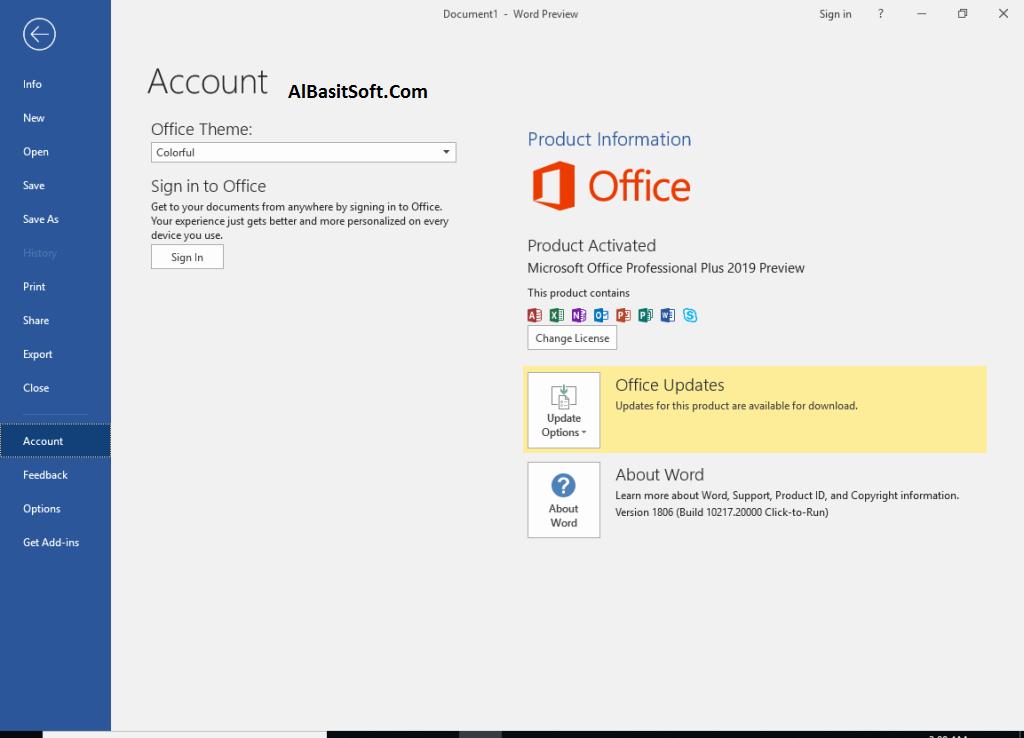 Microsoft Office Pro Plus 2019 16.0.10325.20118 Retail Activator (x86x64) Free Download(AlBasitSpft.Com)