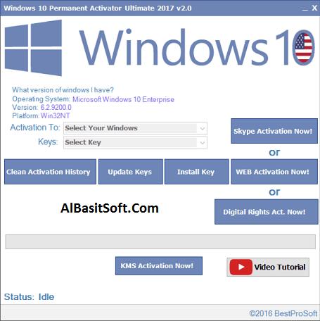 Windows 10 Permanent Activator Ultimate v2.5 ! [Latest] Free Download(AlBasitSoft.Com)
