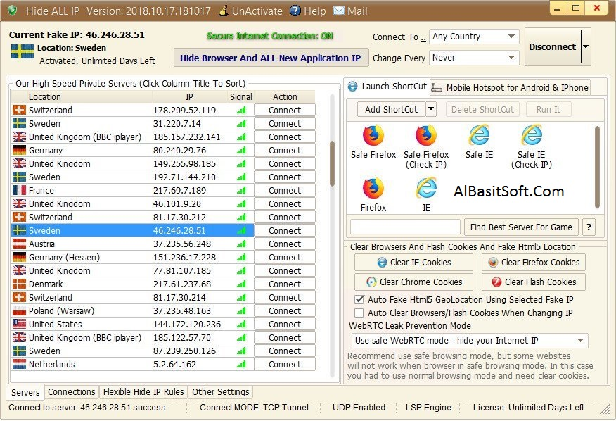 Hide ALL IP 2018.10.17.181017 With Crack Free Download(AlBasitSoft.Com)