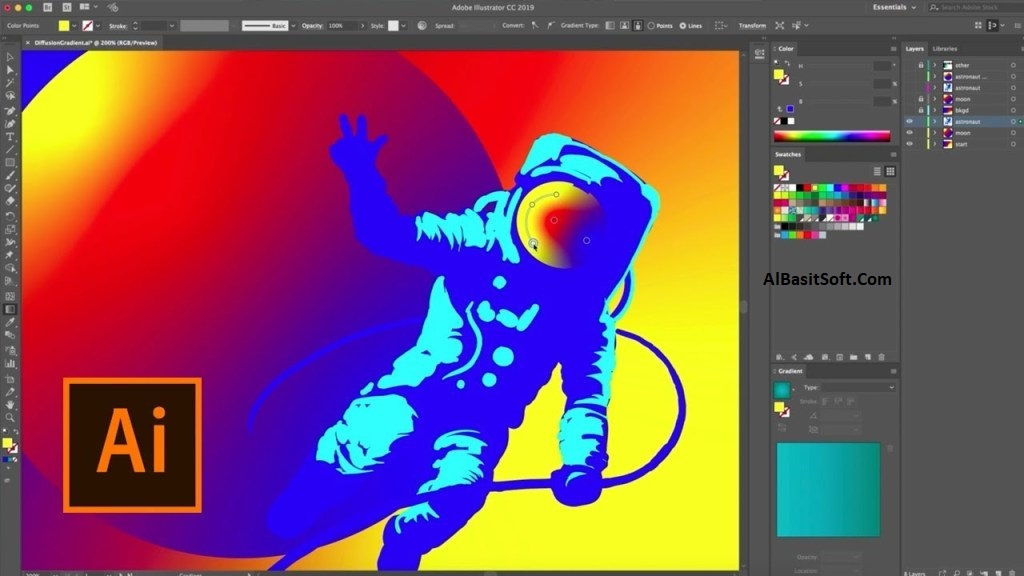 Adobe Illustrator CC 2019 v23.0.1.540 With Crack Free Download(AlBasitSoft.Com)