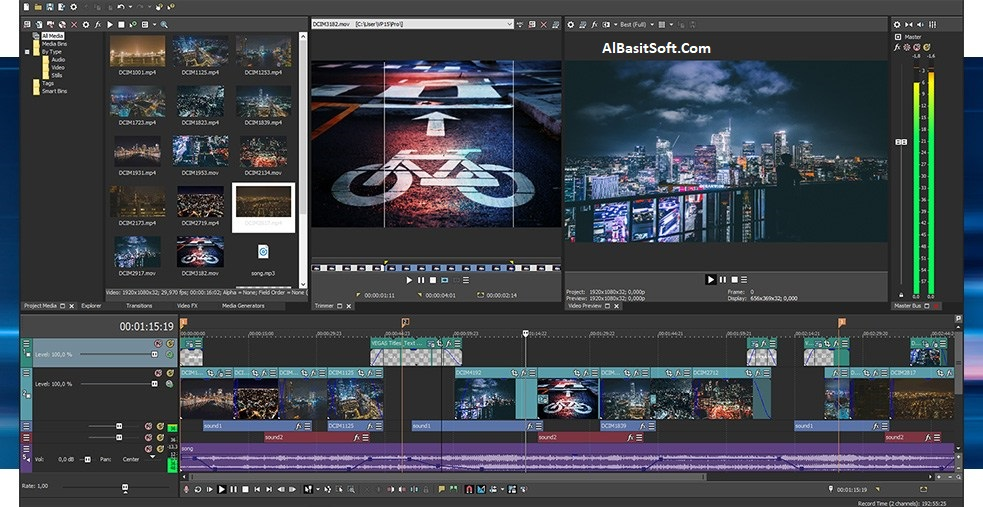 MAGIX VEGAS Pro 15.0.0.416 With Crack (x64) Free Download(AlBasitSoft.Com)