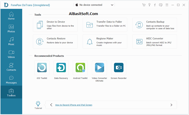FonePaw DoTrans 1.2.0 With Crack Free Download(AlBasitSoft.Com)