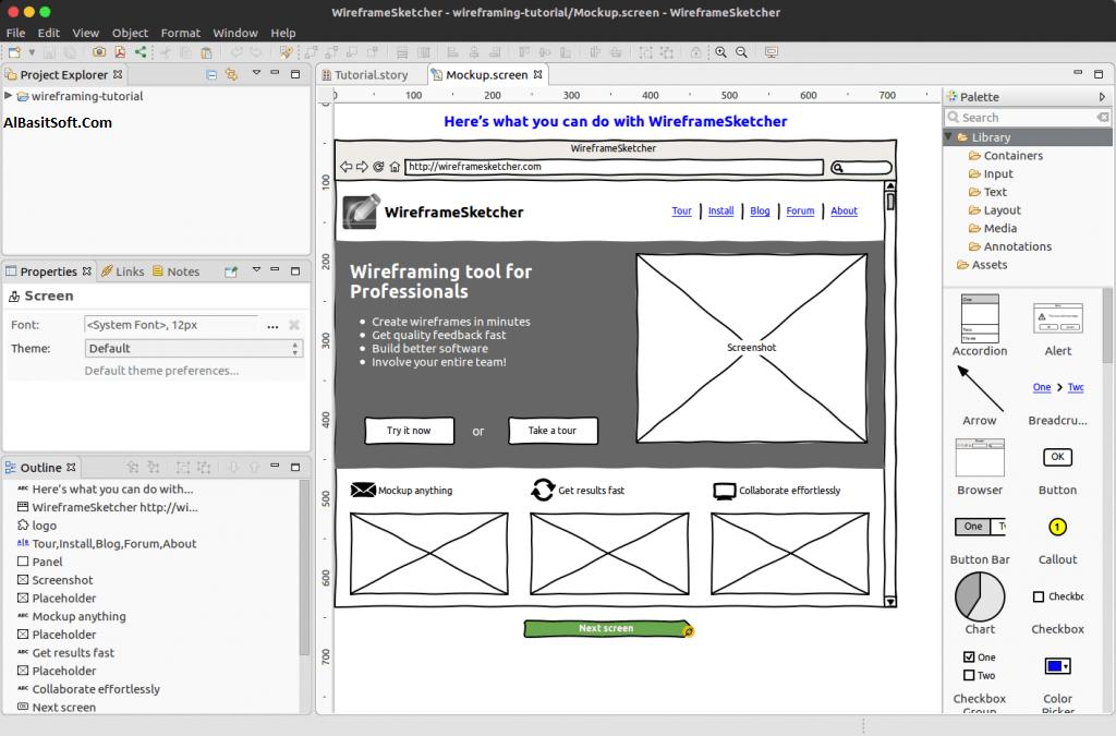 WireframeSketcher 6.0.0 Full Version Crack Free Download(AlBasitSoft.Com)