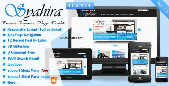 Syahira Responsive Blogger Template Free Download(AlBAsitSoft.Com)