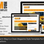 WarmMag Premium Responsive Blogger Template Free Download