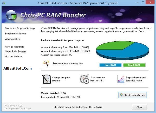Chris-PC RAM Booster 4.92 With Crack(AlBasitSoft.Com)