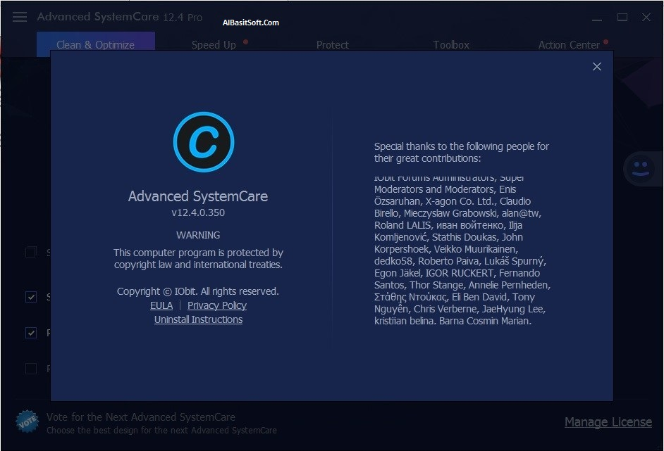 Advanced SystemCare Pro 12.4.0.350 With Crack Free Download (AlBasitSoft.Com)