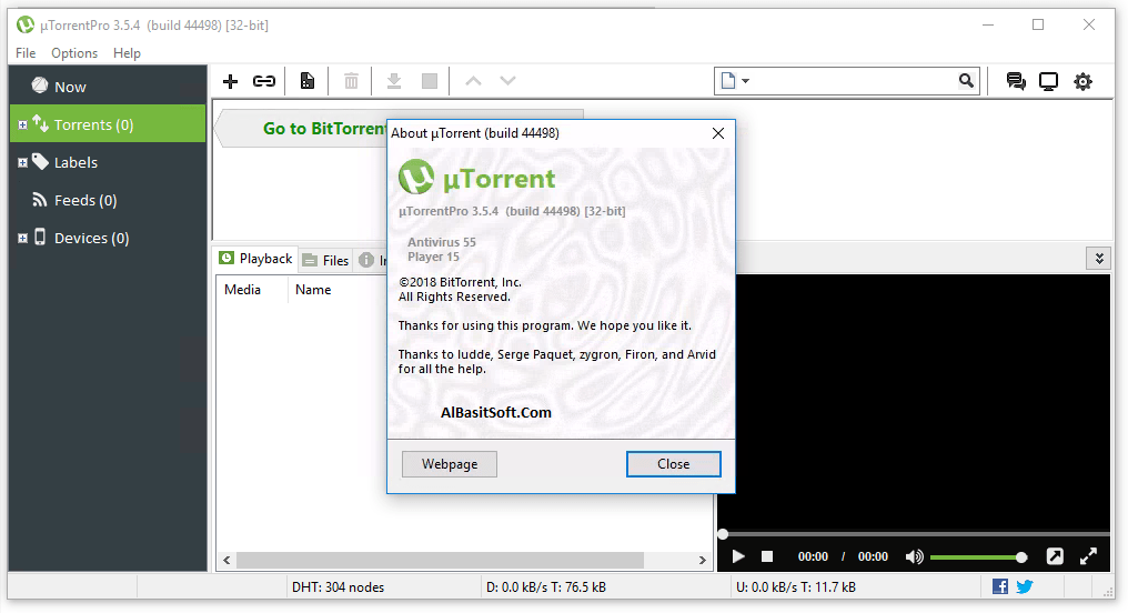 µTorrent Pro 3.5.5 Build 45231 With Crack Free Download(AlBasitSoft.Com)