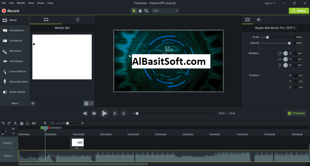 TechSmith Camtasia 2019.0.3 Build 4809 (x64) With Crack Free Download(AlBasitSoft.Com)
