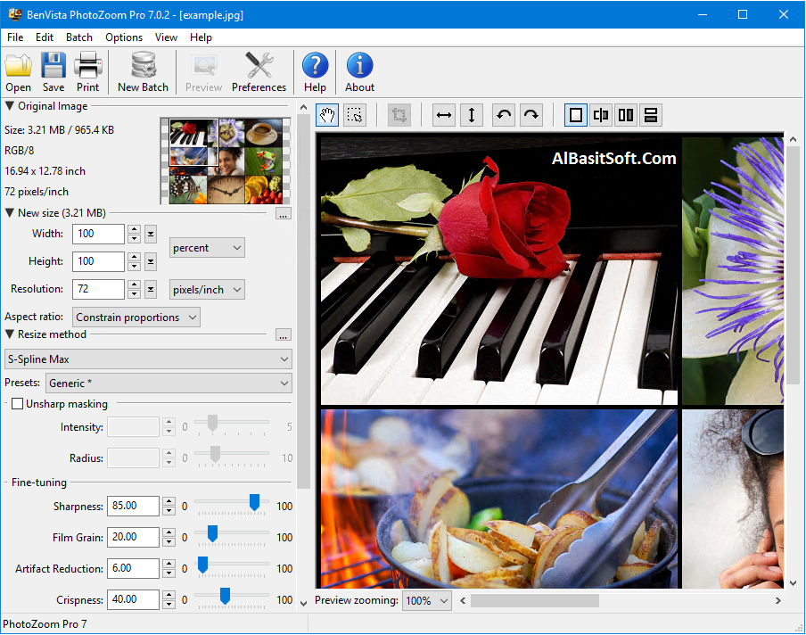 Benvista PhotoZoom Pro 8.0 (x86/x64) With Carck Free Download(AlBasitSoft.Com)