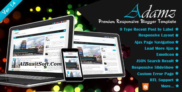 Adamz Responsive Blogger Template Free Download(AlBasitSoft.Com)