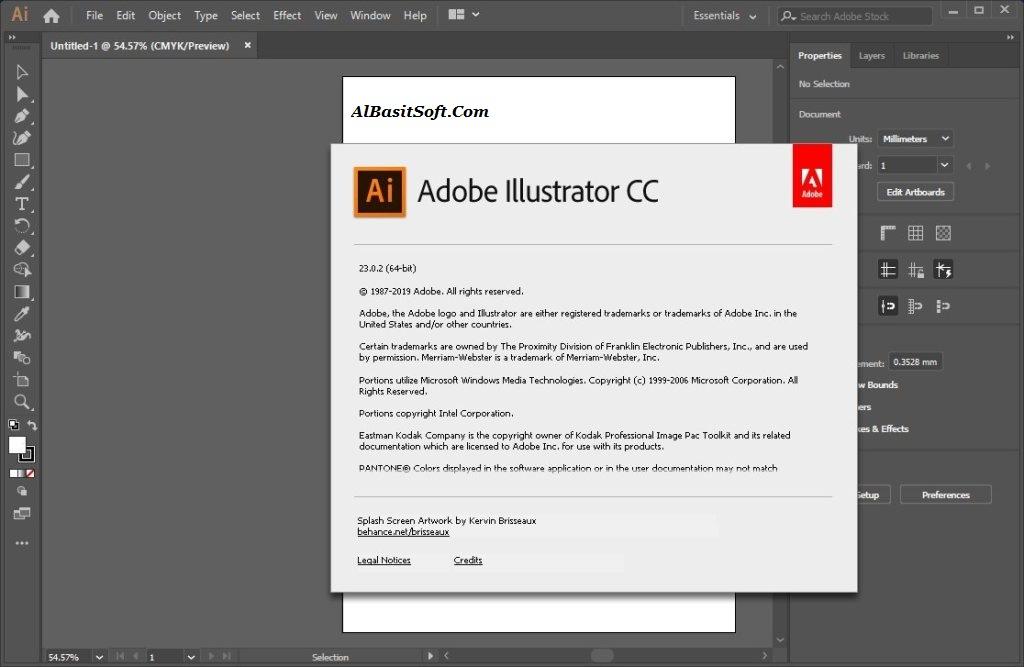 Adobe Illustrator CC 2019 v23.0.5.634 (x64) With Crack Free Download(AlBasitSoft.Com)