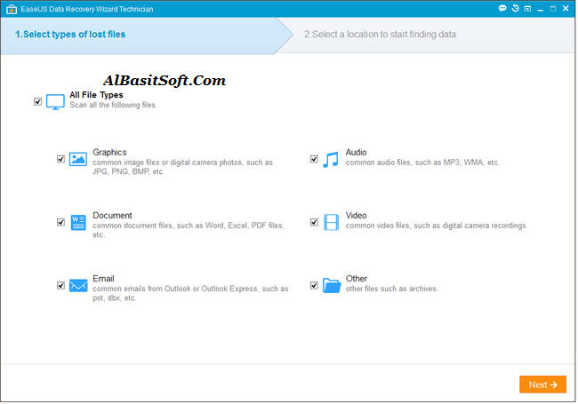 EaseUS Data Recovery Wizard Professional/Technician 12.9.1+ Keygen Free Download(AlBasitSoft.Com)
