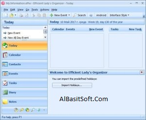 Efficient Ladys Organizer 5.60 Build 555 With Crack Free Download(AlBasitSoft.Com)