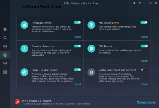 IObit Malware Fighter Pro 7.2.0.5748 With Crack Free Download(AlBasitSoft.Com)