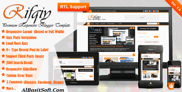 Rifqiy Template for Blogger Free Download(AlBasitSoft.Com)