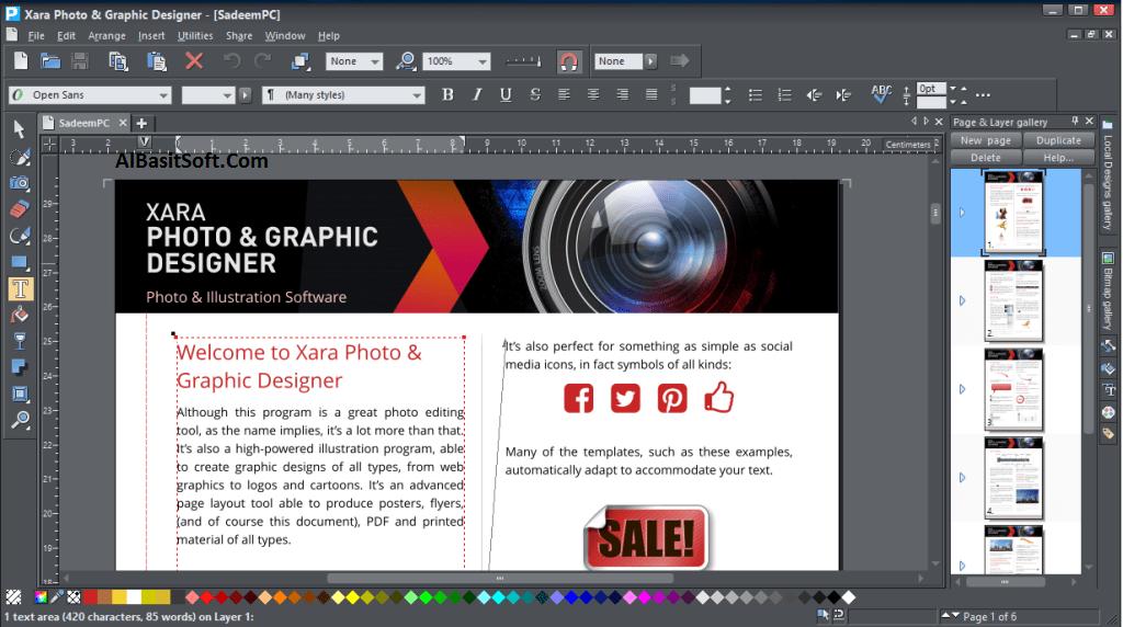 Xara Photo & Graphic Designer 16.2.1.57326 With crack Free Download(AlBasitSoft.Com)