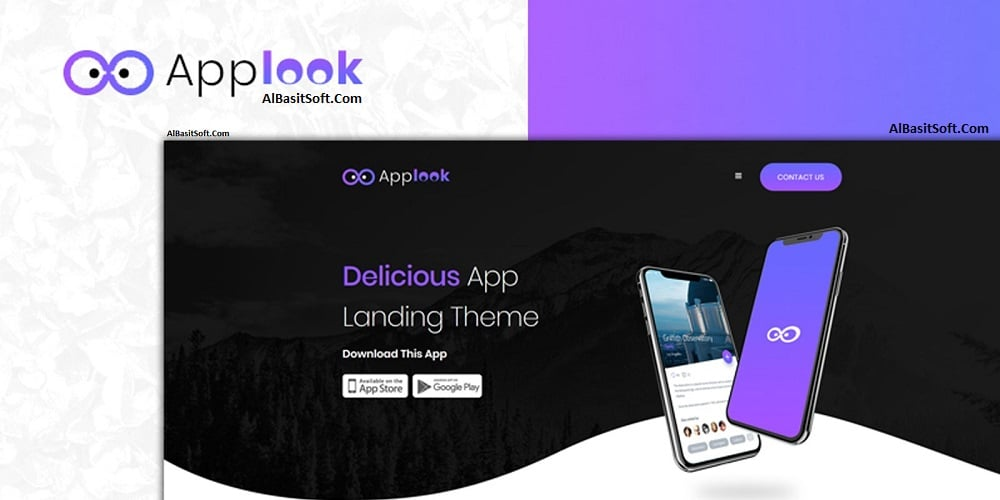 Applook - App Landing Page Free Download(AlBasitSoft.Com)