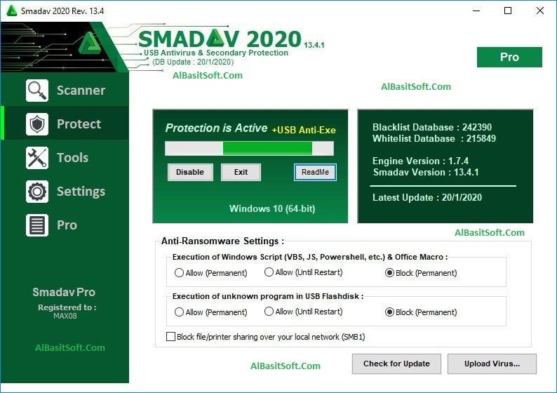 Smadav Pro 2020 13.4.1 With Crack Free Download(AlBasitSoft.Com)